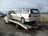 car loaded on our vehicle transporter